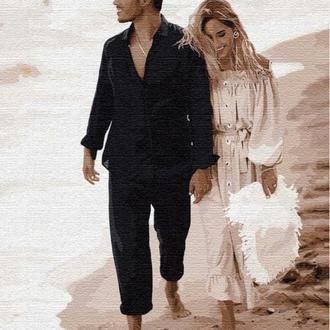 Картина по номерам Свидание на побережье Никита Добрынин и Дарья Квиткова, 40х50 (KHO4750)
