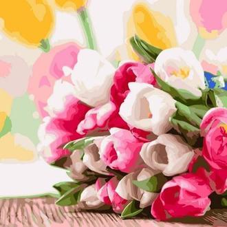Картина за номерами 40х50 Букет тюльпанів (GX9193)
