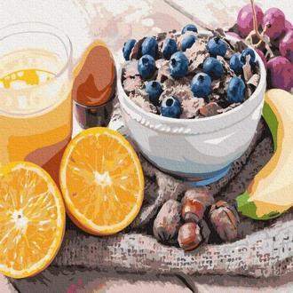 Картина по номерам Разнообразный завтрак (GX34872) 40х50 см.