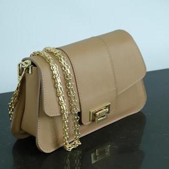 Женская маленькая сумка. Сумочка Into из кожи. Шкіряна сумка через плече
