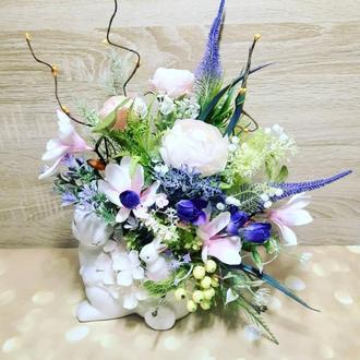 Весенняя пасхальная композиция весняна великодня композиція весенний декор венок