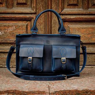 Повседневная мужская сумка. Деловой портфель для документов