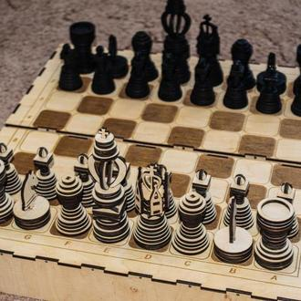 Шахматы деревянные с доской Коробка для шахмат Ручная робота