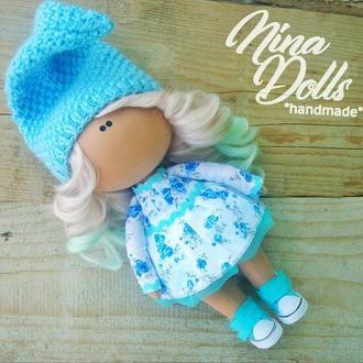 Інтер'єрна лялька блакитна хмаринка