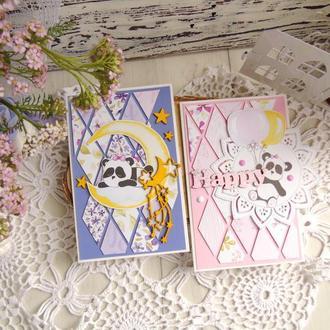 Нежные детские открытки с пандой