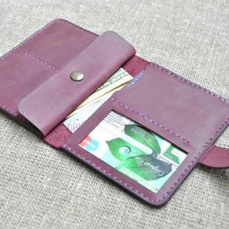 Компактный чехол для документов, карт и денег из натуральной кожи D08-800