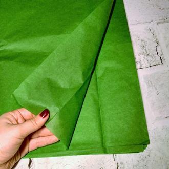 Бумага тишью 75х50 см, 10 листов, зеленая