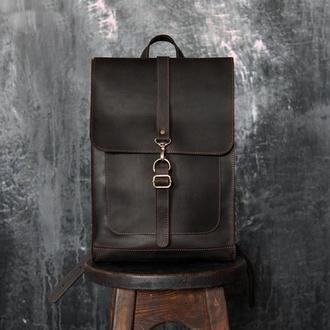 Рюкзак из кожи Crazy Horse. Винтажный кожаный рюкзак из кожи Крейзи Хорс