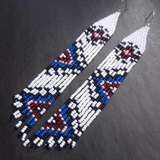 Этно серьги, этнический стиль, этно украшения, подарок на 8 марта, орнамент серьги висячие, подвески
