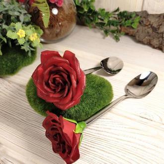 Ложка с декором Роза