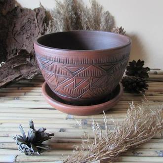 Керамический горшок для цветов