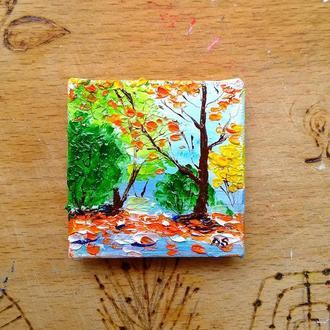 Осенний пейзаж (миниатюра)