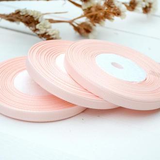 Репсовая лента 6мм для бантиков, упаковки и рукоделия. Цена за 1 рулон 18м. Светло розовый цвет