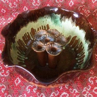 Ваза керамическая глиняная посуда  гуцульский подарок