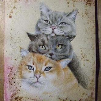 Без кота и жизнь не та. Рисунок 2021г Автор - Мишарева Наталья