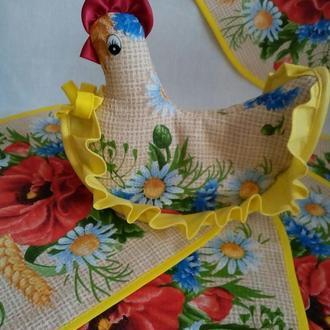 Набор текстильных аксессуаров на кухню, украинский сувенир