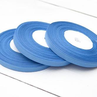 Репсовая лента 6мм для бантиков, упаковки и другого рукоделия. Цена за 1 рулон 18м. Синий цвет