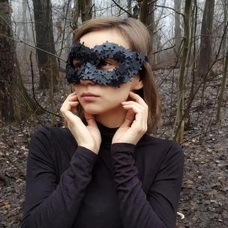 """Оригинальная черная карнавальна маска """"puzzle"""" хеловин Фотосессии , праздники День влюбленных"""
