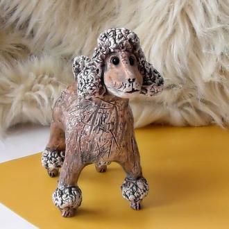 Статуэтка пудель собака сувенир