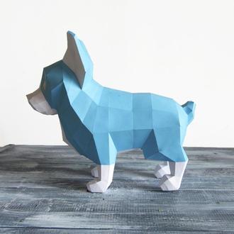 Полигональная скульптура собаки - Чихуахуа