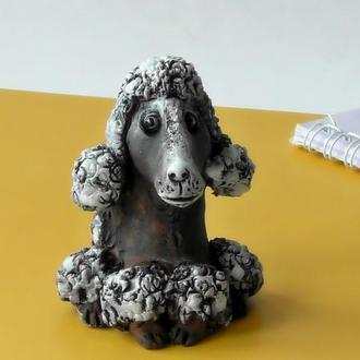 Статуэтка пудель керамическая статуэтка