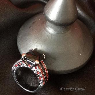 Черное Золото Перстень Кольцо Украшение рубин готика мистика магия подарок