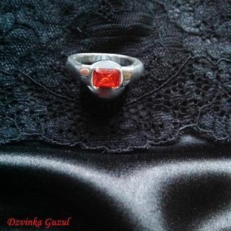 Перстень серебро Украшение ручная робота Кольцо серебряное рубин цитрин new