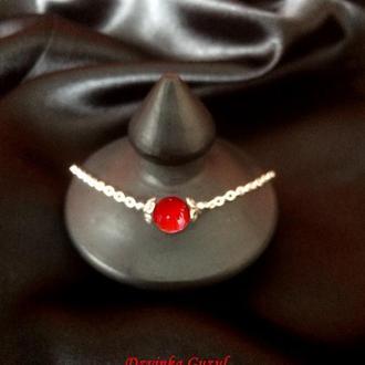 Браслет серебряный кулон серебро ожерелье бирюза корал лава аметист подарок