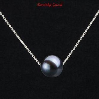 Серебряный кулон браслет серебро украшение ожерелье жемчуг Akoya Tahiti new люкс