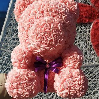 Мишка из роз , мишка из фоамирана , мишка на подарок