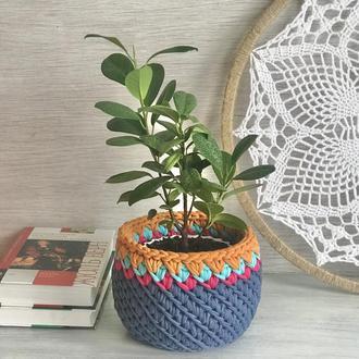 Корзина органайзер  кашпо для цветов вазон подарунок декор для дома для игрушек