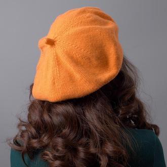 Оранжевый неоновый берет из кашемира