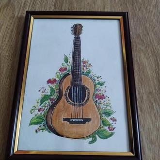 Картина акварель - гитара!