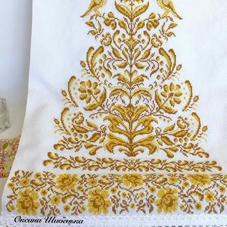 Весільний рушник, вишитий рушник, рушник «Дерево життя»