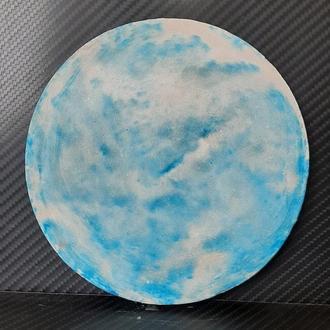 Бело-голубая подставка