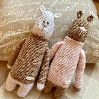 Ведмідь та ведмедиця в стилі «Тільда»