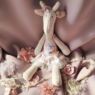Игрушка (кукла) жираф в стиле Тильда