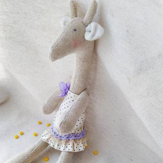 Игрушка (кукла) тильда -жираф