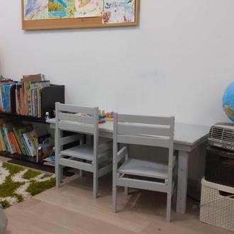 """Набор детских """"растущих"""" стульев и стола"""