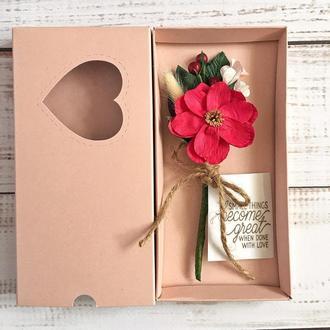 3д листівка у коробці рожева