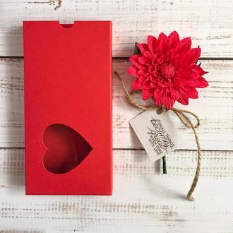 3д листівка у коробці червона