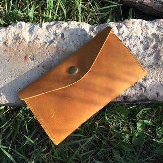 Кожаный кошелёк Кет