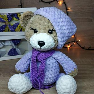 Плюшеве ведмежа Тедді. Ведмедик гачком. Амігурумі ведмежа.