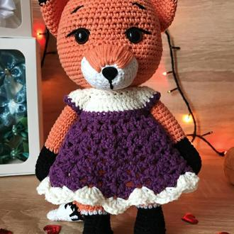 В'язанні іграшки. Лисичка гачком. В'язанна лисиця. Плюшева лисичка.