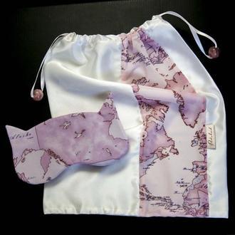 Набор: мешочек для белья и маска для сна (МБ023+МС044)