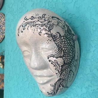 Noh Mask DOJI, Керамическая японская маска DOJI