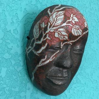 Noh Mask SYAKUMI, Керамическая японская маска SYAKUMI