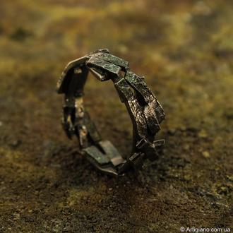 Серебряное кольцо Абстракция