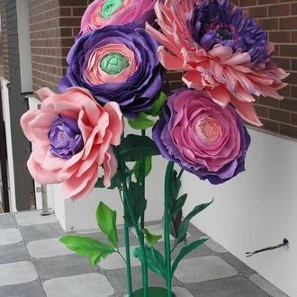 Продам 5 больших ростовых цветов и два бутона к 8 марта.