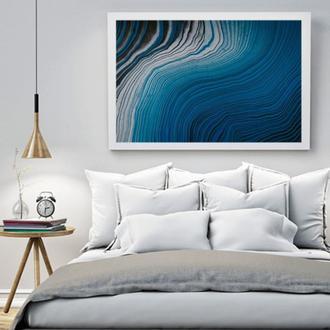 """Интерьерная картина акрилом """"Абстрактное море"""""""